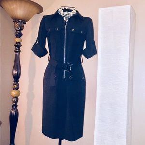 Michael Kors Belted Shirt Dress, Size XS